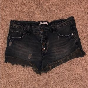 Free People Black Cutoffs